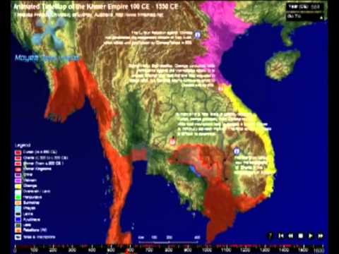 Khmer Empire Map Animated Time Map of The Khmer