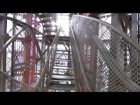 360度動画  横浜マリンタワー階段登り 高所恐怖症には辛い!