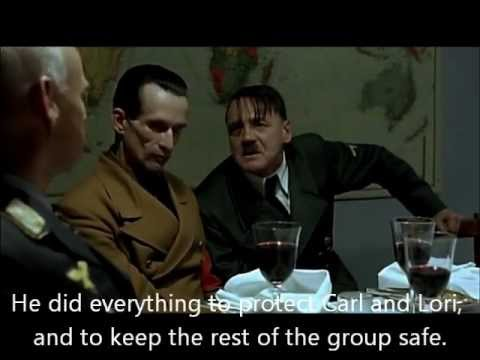 Hitler reacts to shane s death on the walking dead youtube