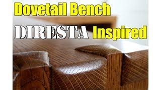 DIRESTA inspired dovetail mudroom bench - FarmCraft101 DIY