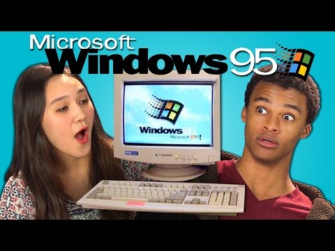 Play this video TEENS REACT TO WINDOWS 95