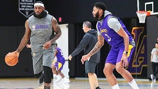 LeBron James & Anthony Davis 1st Lakers Practice Drills!