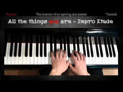 All The Things You Are - Improvisation Etude │Jazz Piano Lessons #1