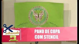 Decore um pano de copa com stencil com artesã Lili Negrão - 14/06/19