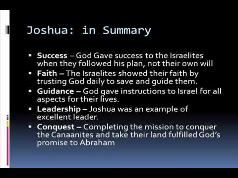 Bible Study: Joshua – Summary of the Book