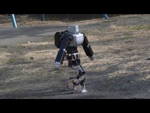 ヒューマノイドロボットによる不整地歩行の実験(The experiment which walks an irregular ground.)
