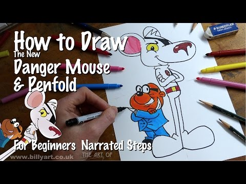 How To Draw The New Danger Mouse and Penfold on CBBC