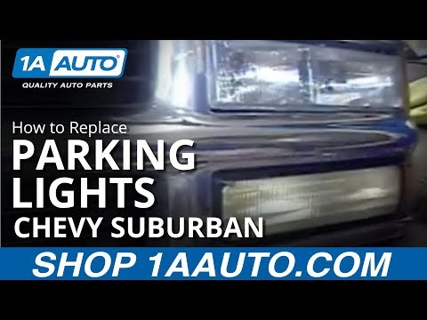 How To Install Replace Parking Light 92-98 Chevy GMC Truck and SUV 1AAuto.com