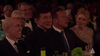 Tom Hanks honors Jackie Chan at the 2016 Governors Awards