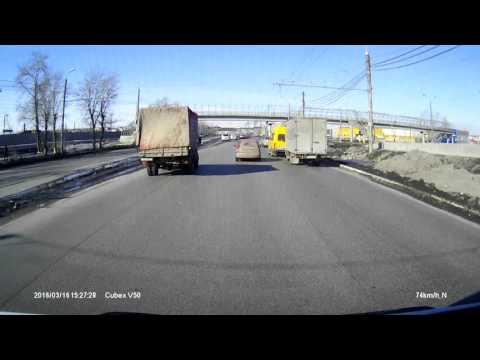 ДТП в Челябинске маршрутку разорвало