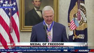 NBA LEGEND: President Trump Honors Jerry West With Medal of Freedom