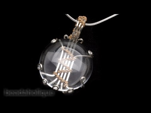 How to Make a Wire Wrapped Soumak Stone Setting by Wyatt White
