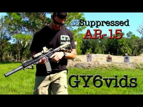 Silenced AR-15----Quick Detach Suppressor