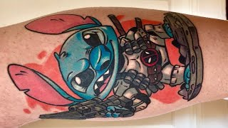 Neo Traditional Stitch Tattoo Time Lapse