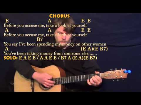 Before You Accuse Me (Eric Clapton) Guitar Lesson Chord Chart