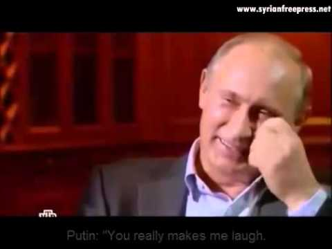 Putin laughs in face of a journalist (ENG subtitle) about the anti missile system