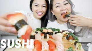 SUSHI | Sister Mukbang SAS-ASMR | N.E Let's Eat