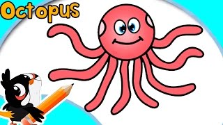 How To Draw An Octopus | Easy Step By Step Drawings | Tutorial For Kids | BulBul Apps