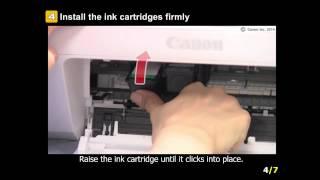 PIXMA MG2924: Setting the ink tanks