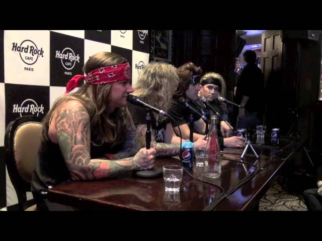 STEEL PANTHER PRESS CONFERENCE @HARD ROCK CAFE PARIS 2014 BY ROCKNLIVE PROD