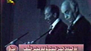الرئيس أنور السادات يؤدي اليمين لرئاسة مصر عام 1970