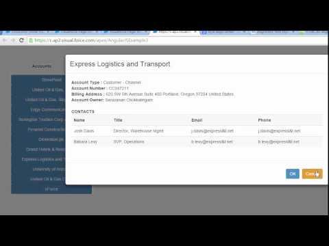 Angular JS Modal and VisualForce Page