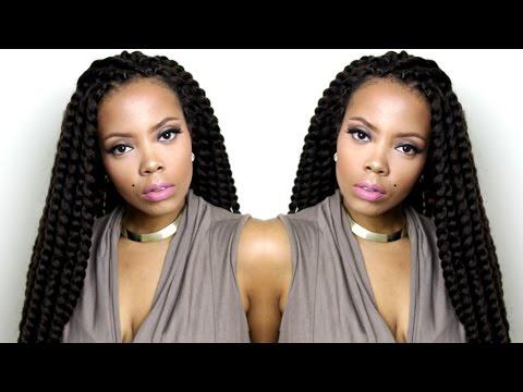 EASY Crochet Braids ft. Authentic Senegalese Twist (Samsbeauty) | tastePINK