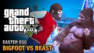 GTA 5 Easter Egg - The Bigfoot vs. The Beast