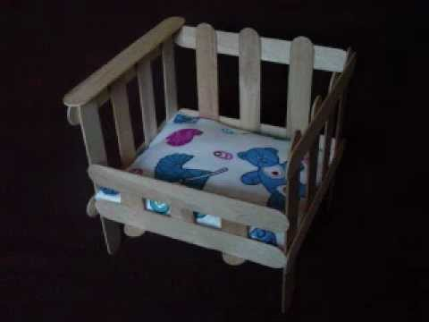 Easy Arts and Crafts: Popsicle Crib - YouTube