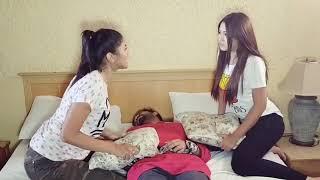 Toya and safa bangla new funny video clip  natok