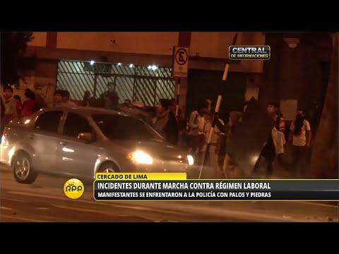 Incidentes en la marcha contra la Ley laboral juvenil│RPP