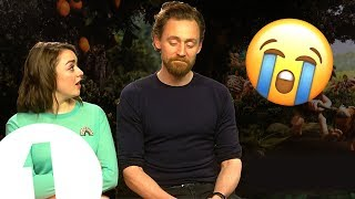 """""""It's an involuntary eye-watering situation!"""" Tom Hiddleston & Maisie Williams play Trivia Buster."""