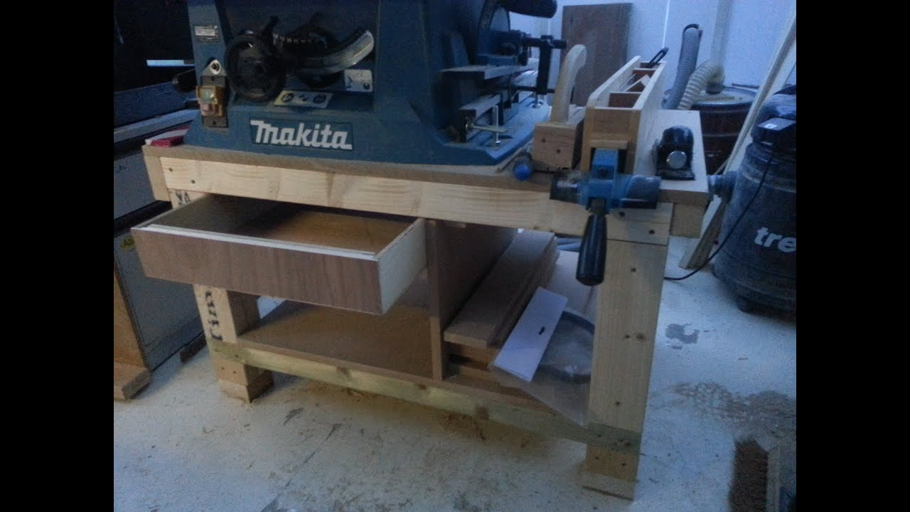 How To Build A Cheap Table Saw Stand From Scrap Pt1 Youtube