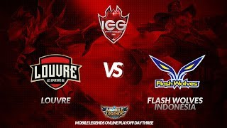 [MLBB] Louvre VS Flash Wolves Indonesia  (BO1) - Indonesia Esports Games 2018 Playoff Day 3