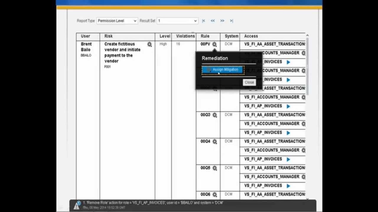 how to search for an incident on sap grc