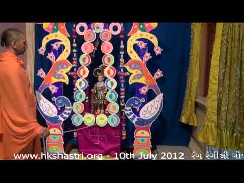 Hkshastri Hindola Darshan Colourful Balls - 10 July 2012 Shree Swaminarayan Temple, Gandhinagar video