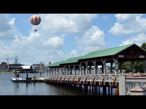 Downtown Disney Marketplace New Boat Dock (Near Saratoga Springs) - Including Disney Springs Update