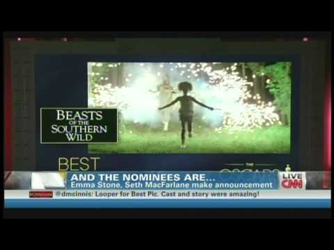 Oscar Nominations Announcement 2013 Seth MacFarlane & Emma Stone (January 10, 2013)