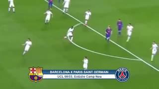 Barcelona 6 x 1 psg melhores momentos liga dos campeões da europa 08/03/2017