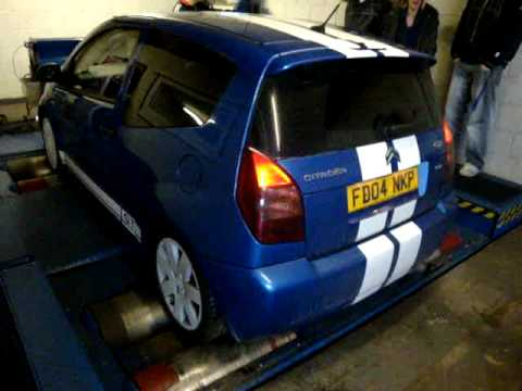 Citroen C2 GT Rolling Road with Flame