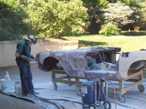 1960 Corvette Soda Blasting and Paint Stripping