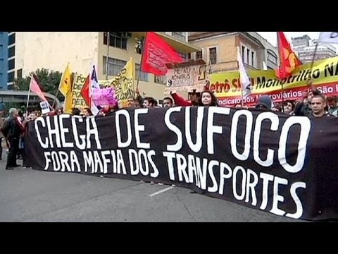 Brazil protesters back on streets of Sao Paulo over public transport