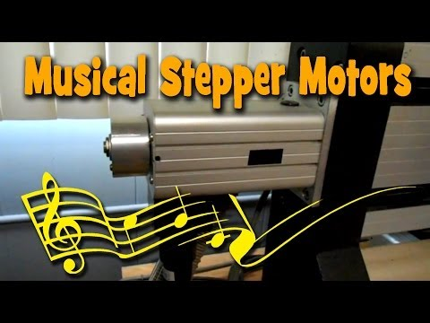 Musical CNC and Floppy Drive Stepper Motors