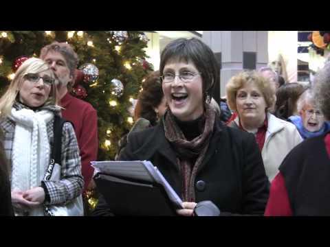 Christmas Flash Mob in Edmonton City Centre Mall, Hallelujah Chorus