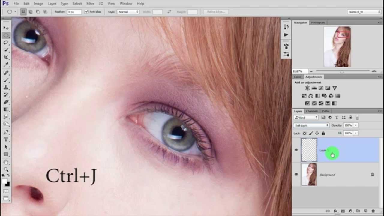 Как сделать глаз выразительными в фотошопе