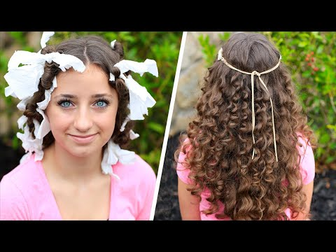 How To Create Quot No Heat Quot Paper Towel Curls Youtube
