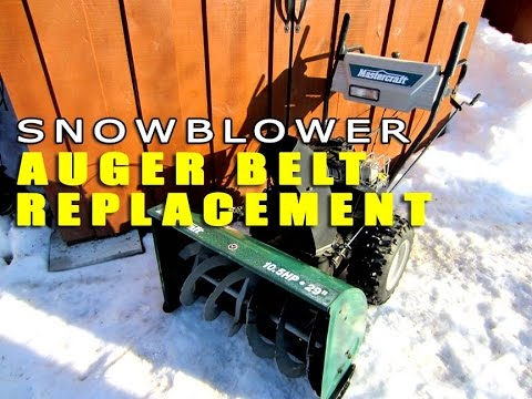 HOW-TO Replace Snowblower Auger Belts - MTD - CUB CADET - CRAFTSMAN