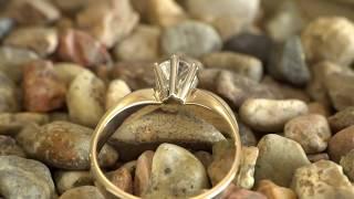 Pierścionek zaręczynowy z Brylantem 0,62 CT F