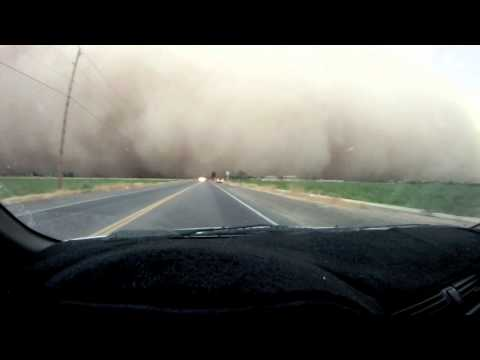 Driving into AZ Haboob Dust Storm HD