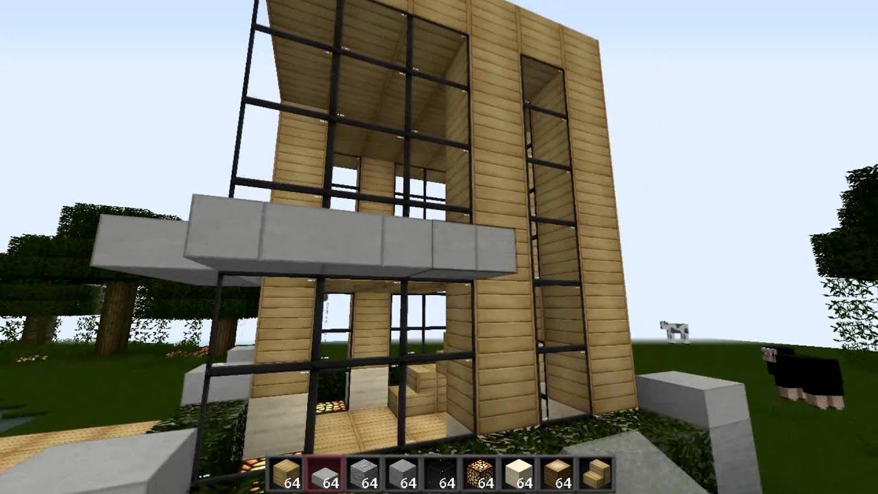 minecraft casa moderna 6x6 youtube